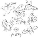 Set Halloween-Elemente Lizenzfreie Stockfotos