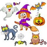 Set Halloween-Elemente Stockfotos