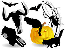 Set of halloween elements Stock Image