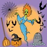 Set of halloween elements Royalty Free Stock Photos