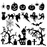 Set of halloween elements Royalty Free Stock Photos