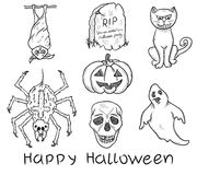 Set of halloween elements Royalty Free Stock Photography
