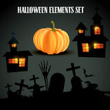 Set of halloween elements Stock Photo