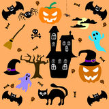 Set of Halloween elements. Vector Royalty Free Stock Images