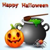 Set of Halloween equipment cartoon Stock Image