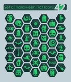 Set of halloween flat icons Royalty Free Stock Image