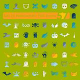 Set of halloween flat icons Stock Image