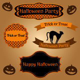 Set of Halloween frames and decorative elements Stock Images