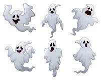 Set Halloween-Geister Lizenzfreies Stockbild