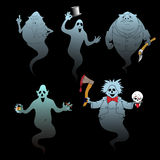 Set of halloween ghost Royalty Free Stock Photo