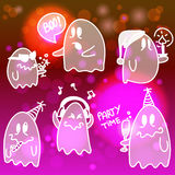 Set of halloween ghosts. Set of halloween cartoon ghosts Stock Photography