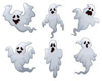 Set of halloween ghosts Royalty Free Stock Image