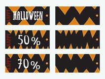 Set of Halloween Gift Tags. Royalty Free Stock Image