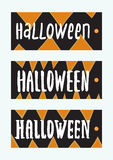 Set of Halloween Gift Tags. Stock Images