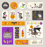 Set of Halloween gift tags and labels Royalty Free Stock Photo