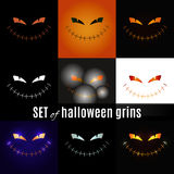 Set halloween grins Royalty Free Stock Photography