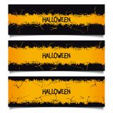 Set Halloween grunge banners Stock Photography