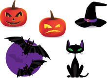 Set of Halloween icons. The set of detailed Halloween  icons Stock Image