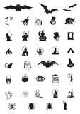 Set of Halloween icons. SET OF DIFFERENT HALLOWEEN ICONS Royalty Free Stock Photo