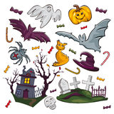Set of Halloween icons Stock Image