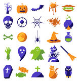 Set of Halloween icons Stock Photography