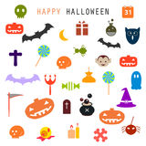Set of halloween icons Stock Images