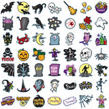 Set of halloween icons, illustrations Royalty Free Stock Photo