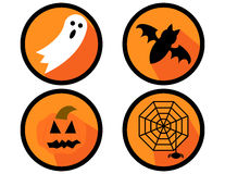 Set of Halloween Icons Royalty Free Stock Photos