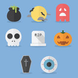 Set of halloween icons Stock Photos