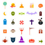 Set of halloween icons Royalty Free Stock Image