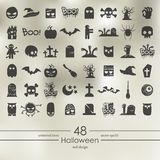 Set of halloween icons Royalty Free Stock Photography