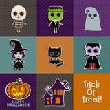 Set Halloween-Ikonen Lizenzfreies Stockbild