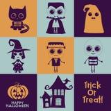 Set Halloween-Ikonen Stockfoto