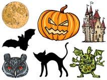 Set for Halloween Stock Photos