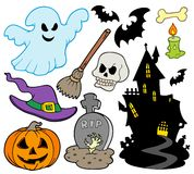 Set of Halloween images Royalty Free Stock Photography