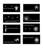 Set Halloween-Karten Lizenzfreie Stockbilder