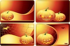 Set Halloween-Karten Lizenzfreies Stockbild