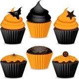 Set Halloween-kleine Kuchen Lizenzfreie Stockbilder