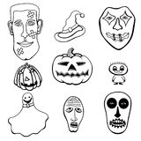 Set of Halloween Stock Image