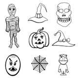 Set of Halloween Stock Photo