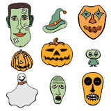 Set of Halloween Royalty Free Stock Photo