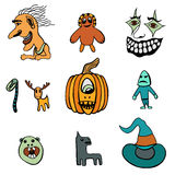 Set of Halloween Royalty Free Stock Photos