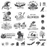 Set of Halloween party concept and design elements. Royalty Free Stock Photo