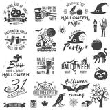 Set of Halloween party concept and design elements. royalty free illustration