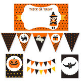 Set of halloween party elements Stock Photography