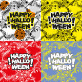 Set of halloween pattern Royalty Free Stock Photo