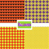 Set Halloween pattern Royalty Free Stock Photo