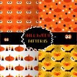 Set of halloween patterns4 Stock Photos