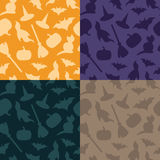 Set of halloween patterns Stock Image