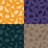 Set of halloween patterns Stock Image